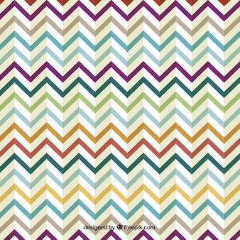 Retro zig zag design colorato