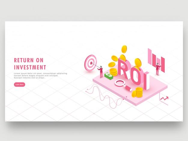 Return on investment concept.