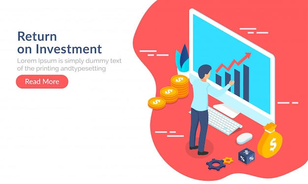 Return on investment (roi) concetto.
