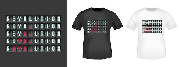Revolution, slogan della moda love per la stampa di t-shirt.