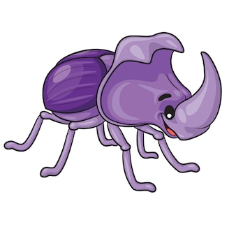 Rhinoceros beetle cartoon