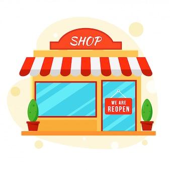 Riapertura del concetto di negozi dopo la pandemia.