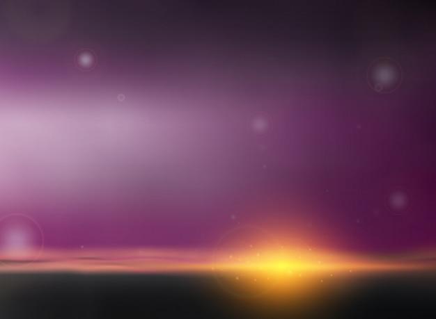 Riassunto di sfondo crepuscolare nel tramonto del tempo di sera.