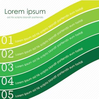 Ribbon verde retrovintage per banner web e infografica