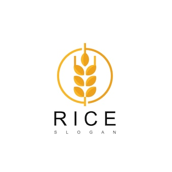 Rice logo design vector