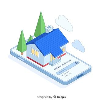 Ricerca casa pagina di destinazione concetto