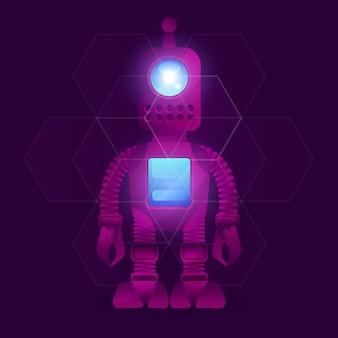 Ricerca scientifica su robot e tecnologia.