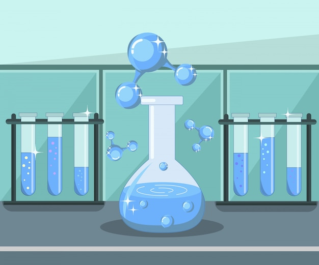 Ricerca sull'acqua, illustrazione di analisi di laboratorio