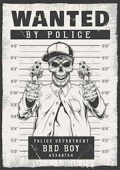 Ricercato poster moderno