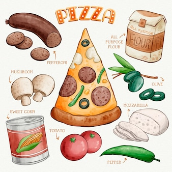 Ricetta pizza disegnata a mano