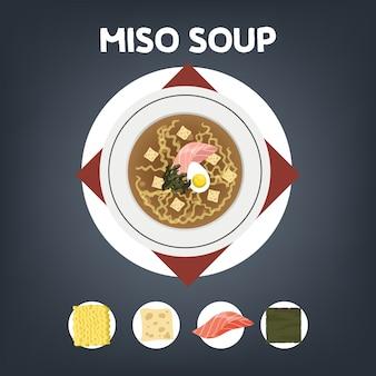 Ricetta zuppa di miso per cucinare a casa