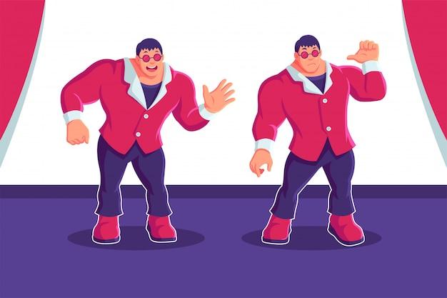 Rich man millionaire businessman cartoon character