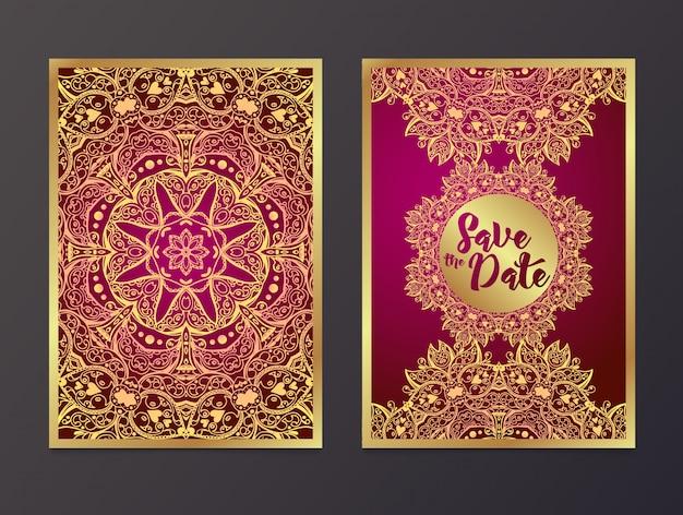 Rich wedding invitations, in stile indiano.