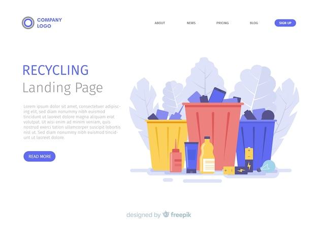 Riciclaggio del modello di pagina di destinazione della spazzatura