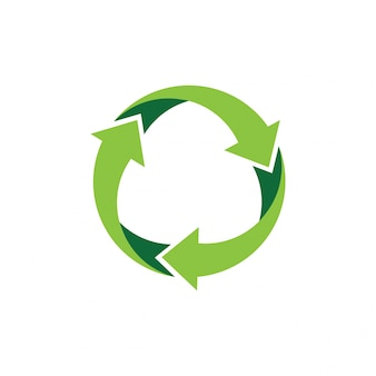 Riciclare logo o icona disegno vettoriale