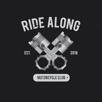 Ride along motorcycle