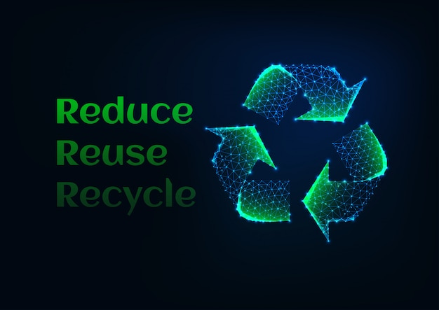 Riduci il banner di riutilizzo riciclo dell'ecologia