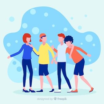 Riferisci un concetto di illustrazione di un amico