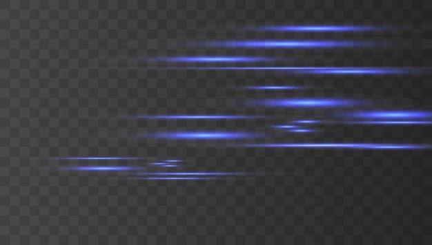 Riflessi di lenti orizzontali al neon
