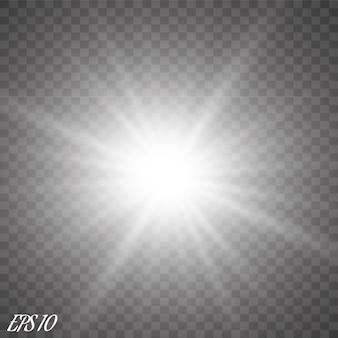 Riflessi di lenti, raggi, stelle e scintillii