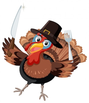 Ringraziamento turky con posate