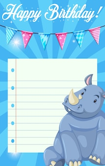 Rinoceronte sul modello di nota