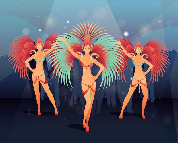 Rio carnival party illustration