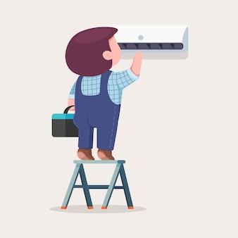 Riparazione e installazione del climatizzatore.
