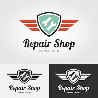 Ripari l'icona, ripari il logo con lo schermo e le ali