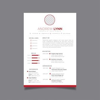 Riprendi il modello di progettazione minimalista cv