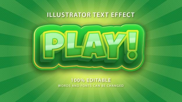 Riproduci effetto stile testo, testo modificabile