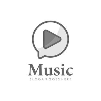 Riproduzione musicale logo design