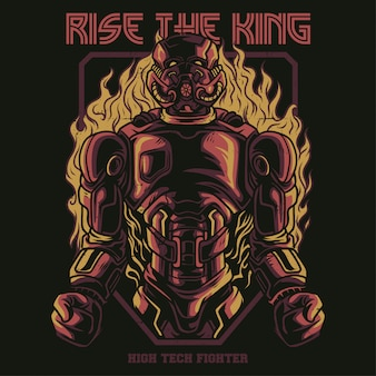 Rise the king illustration