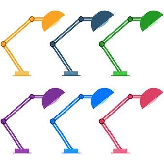 Risorsa di gioco icona colorata elemento lampada studio