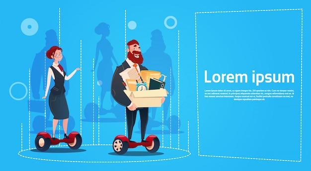 Risorse umane di impiegati della scatola di carry box dei candidati del motorino elettrico della donna e dell'uomo di affari