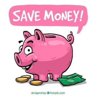 Risparmiare denaro illustrazione