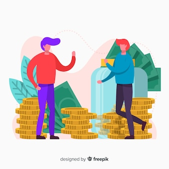 Risparmio di denaro concetto di fondo