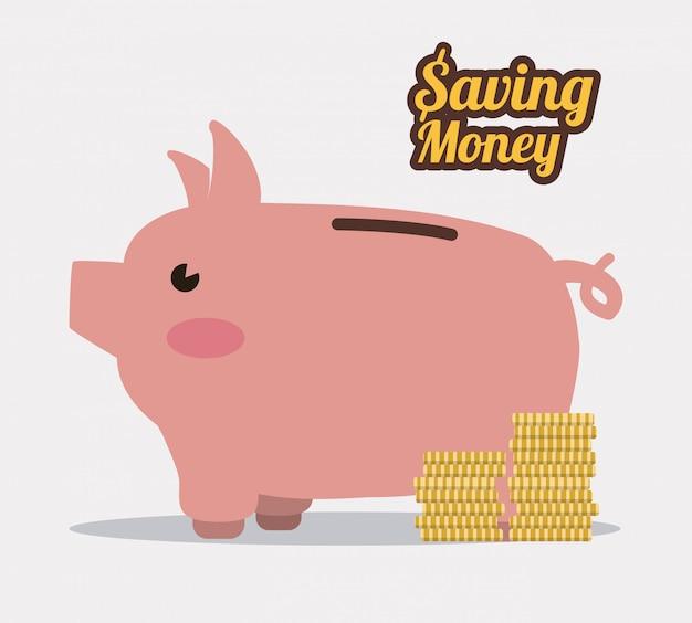 Risparmio di denaro design