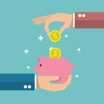 Risparmio di denaro sfondo