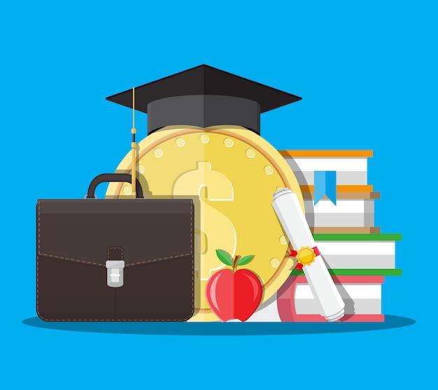 Risparmio di istruzione e concetto di investmet