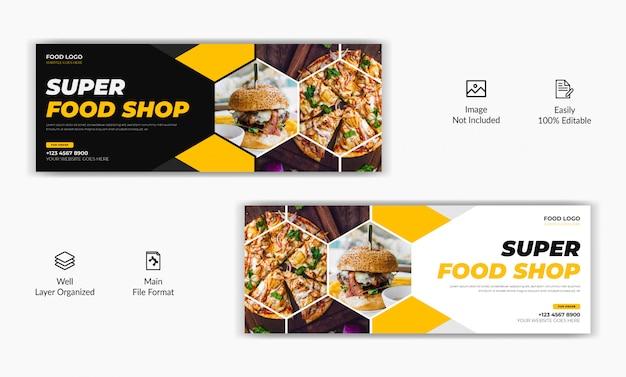 Ristorante in stile mozaic vendita cibo offerta social media post facebook copertina pagina timeline web banner modello annuncio