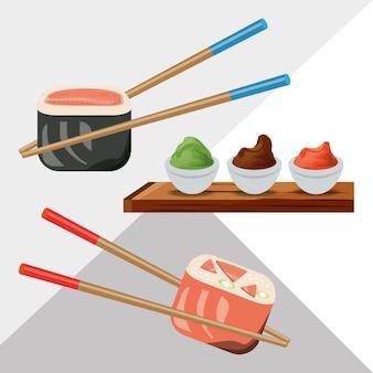 Ristorante sushi delizioso menu di sushi giapponese