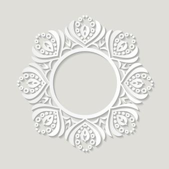 Ritaglio della cornice in filigrana. design vintage barocco