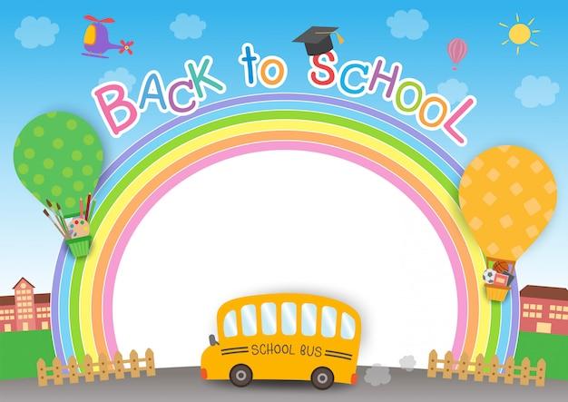 Ritorno a scuola arcobaleno