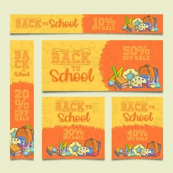 Ritorno a scuola: banner pubblicitari