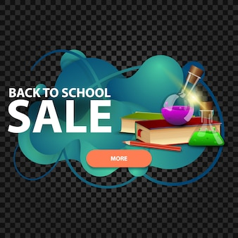 Ritorno a scuola, banner web sconto sotto forma di lampada lava