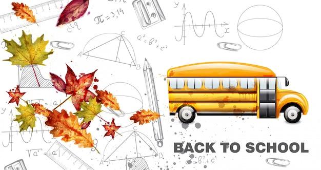 Ritorno a scuola carta acquerello