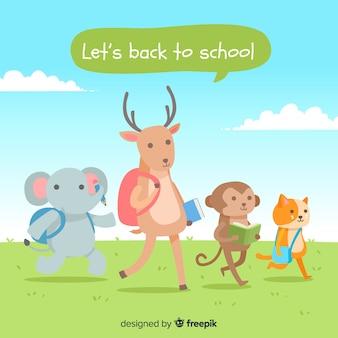 Ritorno a scuola collezione di animali