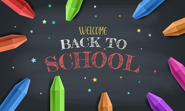 Ritorno a scuola con elementi ed elementi scolastici. sfondo e poster per tornare a scuola