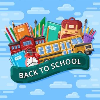 Ritorno a scuola con elementi